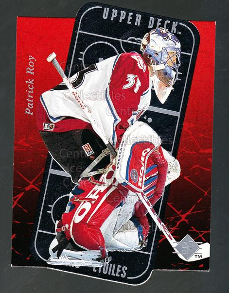 1995-96 Sp Stars #9 Patrick Roy<br/>2 In Stock - $5.00 each - <a href=https://centericecollectibles.foxycart.com/cart?name=1995-96%20Sp%20Stars%20%239%20Patrick%20Roy...&price=$5.00&code=238938 class=foxycart> Buy it now! </a>
