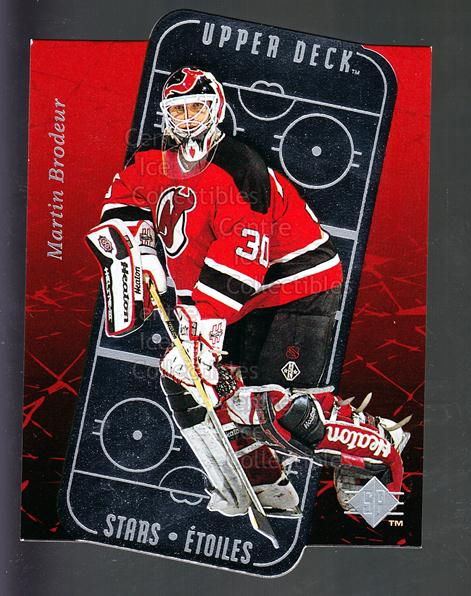 1995-96 Sp Stars #18 Martin Brodeur<br/>3 In Stock - $3.00 each - <a href=https://centericecollectibles.foxycart.com/cart?name=1995-96%20Sp%20Stars%20%2318%20Martin%20Brodeur...&price=$3.00&code=238943 class=foxycart> Buy it now! </a>