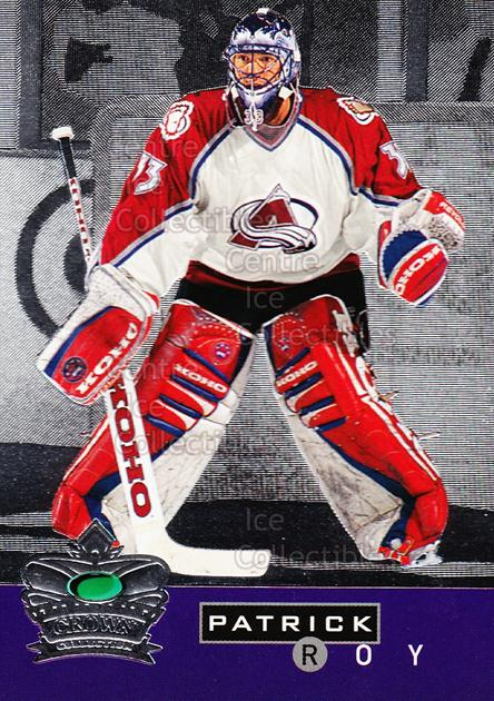 1995-96 Parkhurst Crown Collection Silver Series 2 #2 Patrick Roy<br/>1 In Stock - $5.00 each - <a href=https://centericecollectibles.foxycart.com/cart?name=1995-96%20Parkhurst%20Crown%20Collection%20Silver%20Series%202%20%232%20Patrick%20Roy...&price=$5.00&code=238957 class=foxycart> Buy it now! </a>