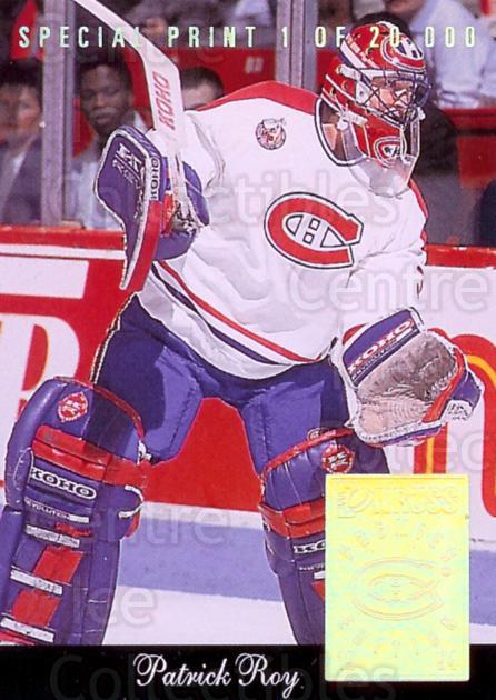 1993-94 Donruss Special Print #L Patrick Roy<br/>1 In Stock - $5.00 each - <a href=https://centericecollectibles.foxycart.com/cart?name=1993-94%20Donruss%20Special%20Print%20%23L%20Patrick%20Roy...&price=$5.00&code=238980 class=foxycart> Buy it now! </a>