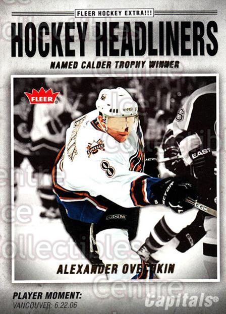 2006-07 Fleer Hockey Headliners #14 Alexander Ovechkin<br/>3 In Stock - $3.00 each - <a href=https://centericecollectibles.foxycart.com/cart?name=2006-07%20Fleer%20Hockey%20Headliners%20%2314%20Alexander%20Ovech...&price=$3.00&code=238989 class=foxycart> Buy it now! </a>