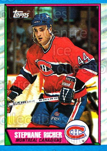 1989-90 Topps #153 Stephane Richer<br/>3 In Stock - $1.00 each - <a href=https://centericecollectibles.foxycart.com/cart?name=1989-90%20Topps%20%23153%20Stephane%20Richer...&quantity_max=3&price=$1.00&code=238 class=foxycart> Buy it now! </a>