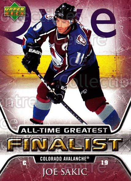 2005-06 Upper Deck All-Time Greatest #15 Joe Sakic<br/>4 In Stock - $2.00 each - <a href=https://centericecollectibles.foxycart.com/cart?name=2005-06%20Upper%20Deck%20All-Time%20Greatest%20%2315%20Joe%20Sakic...&quantity_max=4&price=$2.00&code=239004 class=foxycart> Buy it now! </a>