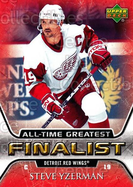 2005-06 Upper Deck All-Time Greatest #22 Steve Yzerman<br/>6 In Stock - $3.00 each - <a href=https://centericecollectibles.foxycart.com/cart?name=2005-06%20Upper%20Deck%20All-Time%20Greatest%20%2322%20Steve%20Yzerman...&quantity_max=6&price=$3.00&code=239006 class=foxycart> Buy it now! </a>