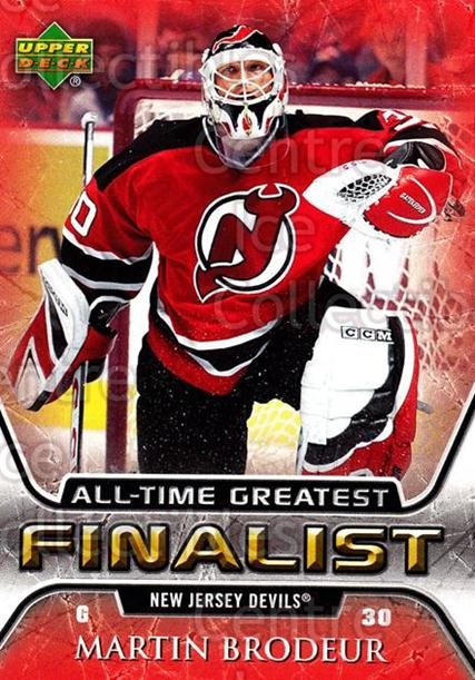 2005-06 Upper Deck All-Time Greatest #35 Martin Brodeur<br/>4 In Stock - $3.00 each - <a href=https://centericecollectibles.foxycart.com/cart?name=2005-06%20Upper%20Deck%20All-Time%20Greatest%20%2335%20Martin%20Brodeur...&quantity_max=4&price=$3.00&code=239010 class=foxycart> Buy it now! </a>