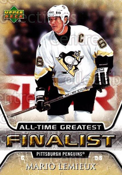 2005-06 Upper Deck All-Time Greatest #47 Mario Lemieux<br/>2 In Stock - $3.00 each - <a href=https://centericecollectibles.foxycart.com/cart?name=2005-06%20Upper%20Deck%20All-Time%20Greatest%20%2347%20Mario%20Lemieux...&quantity_max=2&price=$3.00&code=239012 class=foxycart> Buy it now! </a>