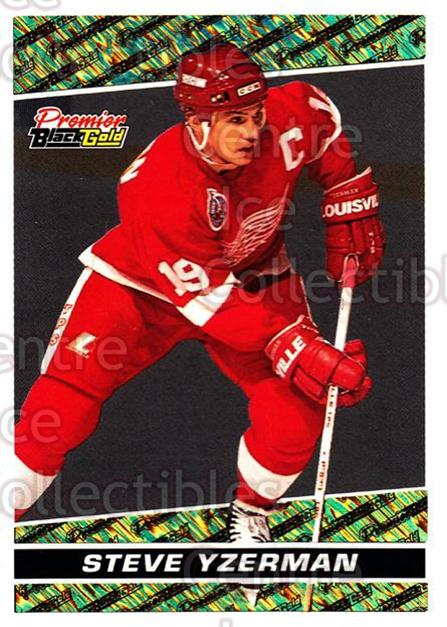 1993-94 Topps Premier Black Gold #16 Steve Yzerman<br/>16 In Stock - $3.00 each - <a href=https://centericecollectibles.foxycart.com/cart?name=1993-94%20Topps%20Premier%20Black%20Gold%20%2316%20Steve%20Yzerman...&price=$3.00&code=239029 class=foxycart> Buy it now! </a>