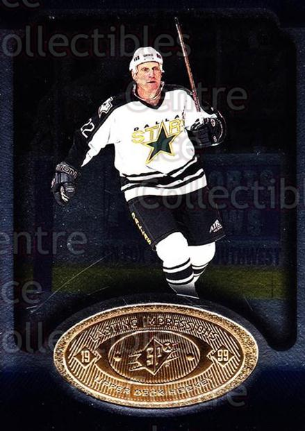 1998-99 SPx Top Prospects Lasting Impressions #16 Brett Hull<br/>6 In Stock - $3.00 each - <a href=https://centericecollectibles.foxycart.com/cart?name=1998-99%20SPx%20Top%20Prospects%20Lasting%20Impressions%20%2316%20Brett%20Hull...&price=$3.00&code=239035 class=foxycart> Buy it now! </a>