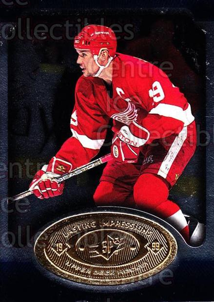 1998-99 SPx Top Prospects Lasting Impressions #19 Steve Yzerman<br/>3 In Stock - $5.00 each - <a href=https://centericecollectibles.foxycart.com/cart?name=1998-99%20SPx%20Top%20Prospects%20Lasting%20Impressions%20%2319%20Steve%20Yzerman...&price=$5.00&code=239037 class=foxycart> Buy it now! </a>