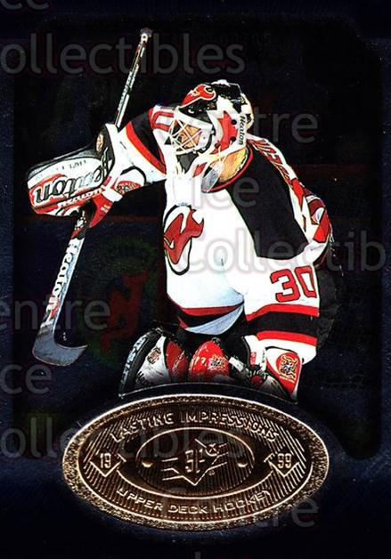 1998-99 SPx Top Prospects Lasting Impressions #21 Martin Brodeur<br/>6 In Stock - $3.00 each - <a href=https://centericecollectibles.foxycart.com/cart?name=1998-99%20SPx%20Top%20Prospects%20Lasting%20Impressions%20%2321%20Martin%20Brodeur...&price=$3.00&code=239038 class=foxycart> Buy it now! </a>