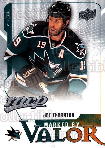 2008-09 Upper Deck MVP Marked By Valor #3 Joe Thornton<br/>3 In Stock - $2.00 each - <a href=https://centericecollectibles.foxycart.com/cart?name=2008-09%20Upper%20Deck%20MVP%20Marked%20By%20Valor%20%233%20Joe%20Thornton...&quantity_max=3&price=$2.00&code=239045 class=foxycart> Buy it now! </a>