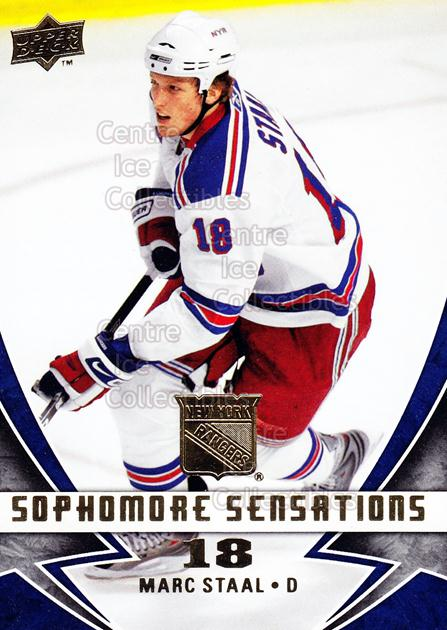2008-09 Upper Deck Sophomore Sensations #4 Marc Staal<br/>6 In Stock - $2.00 each - <a href=https://centericecollectibles.foxycart.com/cart?name=2008-09%20Upper%20Deck%20Sophomore%20Sensations%20%234%20Marc%20Staal...&quantity_max=6&price=$2.00&code=239147 class=foxycart> Buy it now! </a>