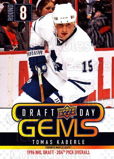 2009-10 Upper Deck Draft Day Gems #3 Tomas Kaberle<br/>3 In Stock - $2.00 each - <a href=https://centericecollectibles.foxycart.com/cart?name=2009-10%20Upper%20Deck%20Draft%20Day%20Gems%20%233%20Tomas%20Kaberle...&quantity_max=3&price=$2.00&code=239204 class=foxycart> Buy it now! </a>