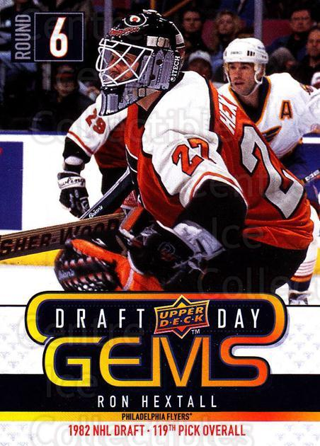 2009-10 Upper Deck Draft Day Gems #7 Ron Hextall<br/>2 In Stock - $2.00 each - <a href=https://centericecollectibles.foxycart.com/cart?name=2009-10%20Upper%20Deck%20Draft%20Day%20Gems%20%237%20Ron%20Hextall...&quantity_max=2&price=$2.00&code=239208 class=foxycart> Buy it now! </a>