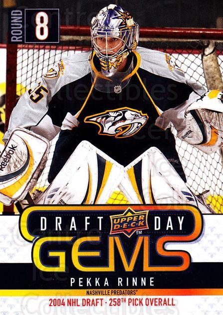 2009-10 Upper Deck Draft Day Gems #13 Pekka Rinne<br/>4 In Stock - $2.00 each - <a href=https://centericecollectibles.foxycart.com/cart?name=2009-10%20Upper%20Deck%20Draft%20Day%20Gems%20%2313%20Pekka%20Rinne...&quantity_max=4&price=$2.00&code=239214 class=foxycart> Buy it now! </a>