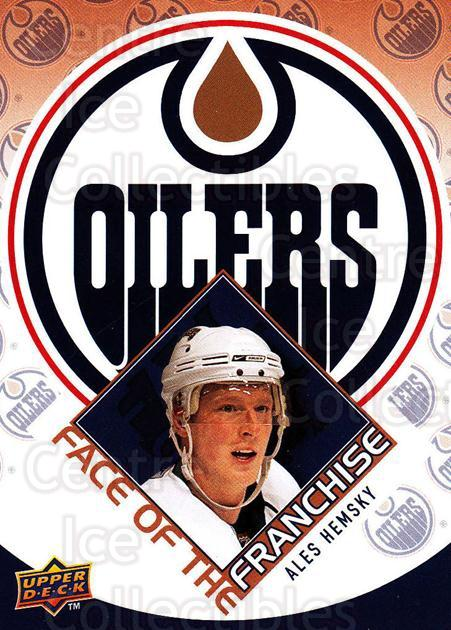 2009-10 Upper Deck Face of the Franchise #4 Ales Hemsky<br/>2 In Stock - $2.00 each - <a href=https://centericecollectibles.foxycart.com/cart?name=2009-10%20Upper%20Deck%20Face%20of%20the%20Franchise%20%234%20Ales%20Hemsky...&quantity_max=2&price=$2.00&code=239235 class=foxycart> Buy it now! </a>