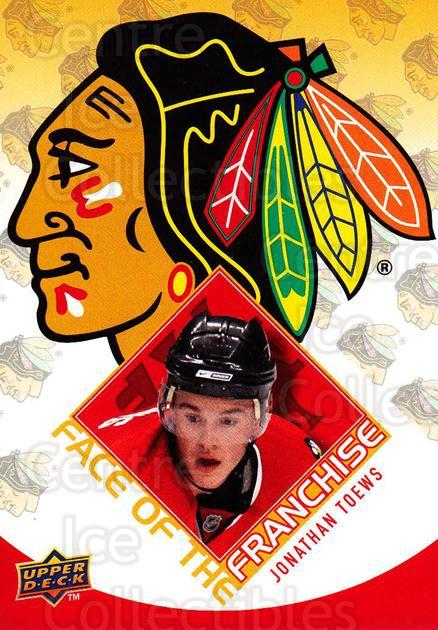 2009-10 Upper Deck Face of the Franchise #10 Jonathan Toews<br/>2 In Stock - $2.00 each - <a href=https://centericecollectibles.foxycart.com/cart?name=2009-10%20Upper%20Deck%20Face%20of%20the%20Franchise%20%2310%20Jonathan%20Toews...&quantity_max=2&price=$2.00&code=239241 class=foxycart> Buy it now! </a>