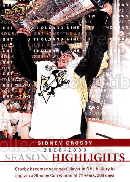 2009-10 Upper Deck Season Highlights #1 Sidney Crosby<br/>1 In Stock - $5.00 each - <a href=https://centericecollectibles.foxycart.com/cart?name=2009-10%20Upper%20Deck%20Season%20Highlights%20%231%20Sidney%20Crosby...&quantity_max=1&price=$5.00&code=239246 class=foxycart> Buy it now! </a>