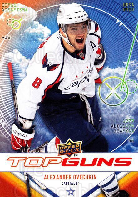 2009-10 Upper Deck Top Guns #7 Alexander Ovechkin<br/>4 In Stock - $3.00 each - <a href=https://centericecollectibles.foxycart.com/cart?name=2009-10%20Upper%20Deck%20Top%20Guns%20%237%20Alexander%20Ovech...&quantity_max=4&price=$3.00&code=239259 class=foxycart> Buy it now! </a>
