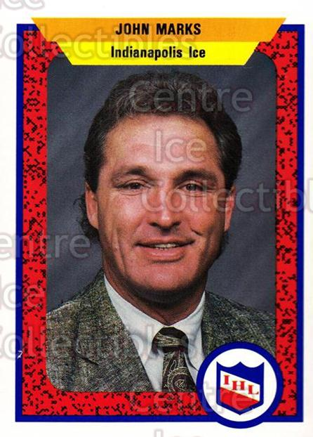 1991-92 ProCards AHL IHL #503 John Marks<br/>4 In Stock - $2.00 each - <a href=https://centericecollectibles.foxycart.com/cart?name=1991-92%20ProCards%20AHL%20IHL%20%23503%20John%20Marks...&quantity_max=4&price=$2.00&code=239278 class=foxycart> Buy it now! </a>