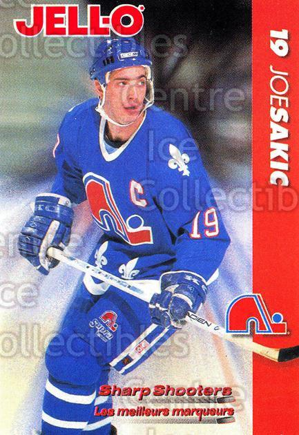 1994-95 Kraft Jell-O Sharp Shooters #14 Joe Sakic<br/>2 In Stock - $3.00 each - <a href=https://centericecollectibles.foxycart.com/cart?name=1994-95%20Kraft%20Jell-O%20Sharp%20Shooters%20%2314%20Joe%20Sakic...&price=$3.00&code=239337 class=foxycart> Buy it now! </a>