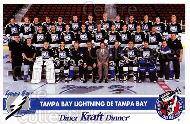 1992-93 Kraft Dinner #20 Tampa Bay Lightning<br/>12 In Stock - $3.00 each - <a href=https://centericecollectibles.foxycart.com/cart?name=1992-93%20Kraft%20Dinner%20%2320%20Tampa%20Bay%20Light...&quantity_max=12&price=$3.00&code=239343 class=foxycart> Buy it now! </a>