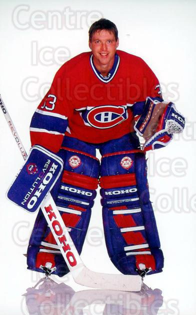 1993-94 Montreal Canadiens Postcards #23 Patrick Roy<br/>2 In Stock - $10.00 each - <a href=https://centericecollectibles.foxycart.com/cart?name=1993-94%20Montreal%20Canadiens%20Postcards%20%2323%20Patrick%20Roy...&price=$10.00&code=239511 class=foxycart> Buy it now! </a>