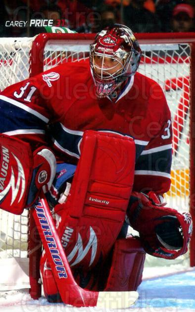 2009-10 Montreal Canadiens Postcards #26 Carey Price<br/>7 In Stock - $3.00 each - <a href=https://centericecollectibles.foxycart.com/cart?name=2009-10%20Montreal%20Canadiens%20Postcards%20%2326%20Carey%20Price...&price=$3.00&code=239535 class=foxycart> Buy it now! </a>