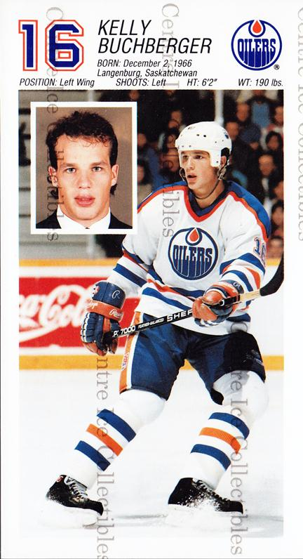 1988-89 Edmonton Oilers Team Issue #4 Kelly Buchberger<br/>1 In Stock - $3.00 each - <a href=https://centericecollectibles.foxycart.com/cart?name=1988-89%20Edmonton%20Oilers%20Team%20Issue%20%234%20Kelly%20Buchberge...&quantity_max=1&price=$3.00&code=239562 class=foxycart> Buy it now! </a>
