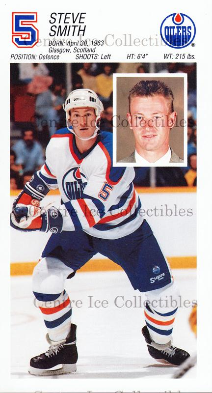 1988-89 Edmonton Oilers Team Issue #26 Steve Smith<br/>1 In Stock - $3.00 each - <a href=https://centericecollectibles.foxycart.com/cart?name=1988-89%20Edmonton%20Oilers%20Team%20Issue%20%2326%20Steve%20Smith...&quantity_max=1&price=$3.00&code=239568 class=foxycart> Buy it now! </a>