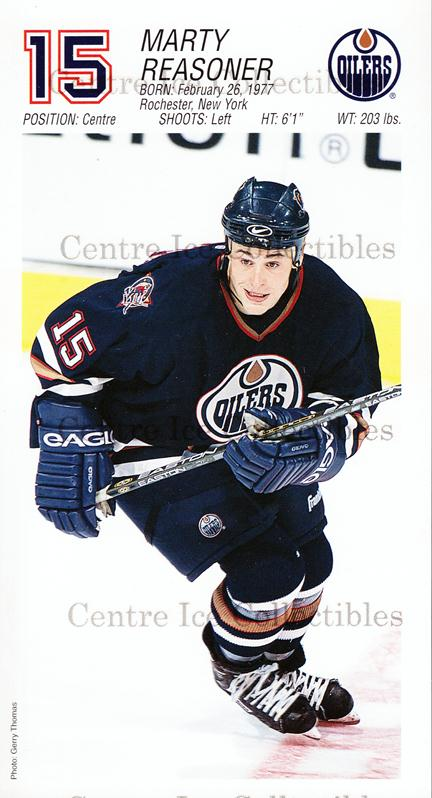 2001-02 Edmonton Oilers Postcards #19 Marty Reasoner<br/>1 In Stock - $3.00 each - <a href=https://centericecollectibles.foxycart.com/cart?name=2001-02%20Edmonton%20Oilers%20Postcards%20%2319%20Marty%20Reasoner...&quantity_max=1&price=$3.00&code=239588 class=foxycart> Buy it now! </a>