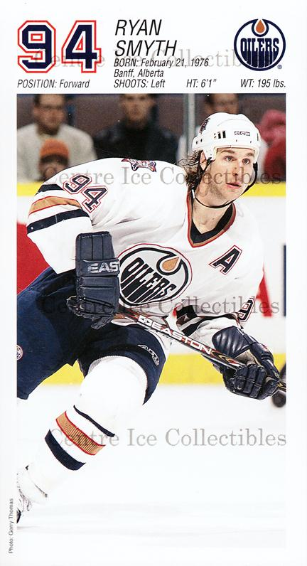 2001-02 Edmonton Oilers Team Issue #22 Ryan Smyth<br/>2 In Stock - $3.00 each - <a href=https://centericecollectibles.foxycart.com/cart?name=2001-02%20Edmonton%20Oilers%20Team%20Issue%20%2322%20Ryan%20Smyth...&quantity_max=2&price=$3.00&code=239591 class=foxycart> Buy it now! </a>