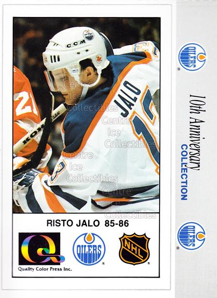 1988-89 Edmonton Oilers Tenth Anniversary #39 Risto Jalo<br/>2 In Stock - $5.00 each - <a href=https://centericecollectibles.foxycart.com/cart?name=1988-89%20Edmonton%20Oilers%20Tenth%20Anniversary%20%2339%20Risto%20Jalo...&quantity_max=2&price=$5.00&code=239618 class=foxycart> Buy it now! </a>