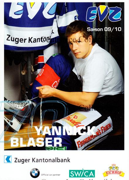 2009-10 Swiss EV Zug Postcards #6 Yanick Blaser<br/>4 In Stock - $3.00 each - <a href=https://centericecollectibles.foxycart.com/cart?name=2009-10%20Swiss%20EV%20Zug%20Postcards%20%236%20Yanick%20Blaser...&quantity_max=4&price=$3.00&code=239935 class=foxycart> Buy it now! </a>