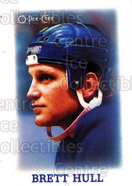 1988-89 O-Pee-Chee Minis #16 Brett Hull<br/>74 In Stock - $2.00 each - <a href=https://centericecollectibles.foxycart.com/cart?name=1988-89%20O-Pee-Chee%20Minis%20%2316%20Brett%20Hull...&price=$2.00&code=240084 class=foxycart> Buy it now! </a>