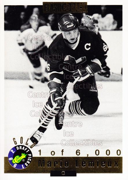 1992 Classic Hockey Draft Gold #66 Mario Lemieux<br/>6 In Stock - $5.00 each - <a href=https://centericecollectibles.foxycart.com/cart?name=1992%20Classic%20Hockey%20Draft%20Gold%20%2366%20Mario%20Lemieux...&price=$5.00&code=240087 class=foxycart> Buy it now! </a>