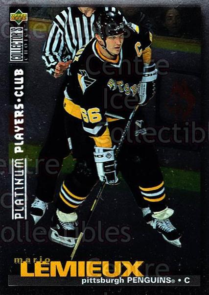 1995-96 Collectors Choice Players Club Platinum #256 Mario Lemieux<br/>10 In Stock - $5.00 each - <a href=https://centericecollectibles.foxycart.com/cart?name=1995-96%20Collectors%20Choice%20Players%20Club%20Platinum%20%23256%20Mario%20Lemieux...&quantity_max=10&price=$5.00&code=240098 class=foxycart> Buy it now! </a>