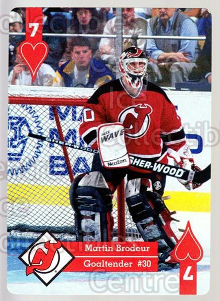 1995-96 Hoyle Eastern Playing Card #7 Martin Brodeur<br/>2 In Stock - $3.00 each - <a href=https://centericecollectibles.foxycart.com/cart?name=1995-96%20Hoyle%20Eastern%20Playing%20Card%20%237%20Martin%20Brodeur...&price=$3.00&code=240138 class=foxycart> Buy it now! </a>