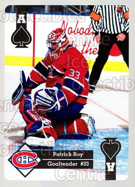 1995-96 Hoyle Eastern Playing Card #27 Patrick Roy<br/>2 In Stock - $5.00 each - <a href=https://centericecollectibles.foxycart.com/cart?name=1995-96%20Hoyle%20Eastern%20Playing%20Card%20%2327%20Patrick%20Roy...&price=$5.00&code=240142 class=foxycart> Buy it now! </a>