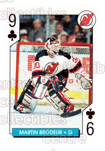 1996-97 NHL Aces Playing Card #22 Martin Brodeur<br/>5 In Stock - $2.00 each - <a href=https://centericecollectibles.foxycart.com/cart?name=1996-97%20NHL%20Aces%20Playing%20Card%20%2322%20Martin%20Brodeur...&price=$2.00&code=240164 class=foxycart> Buy it now! </a>