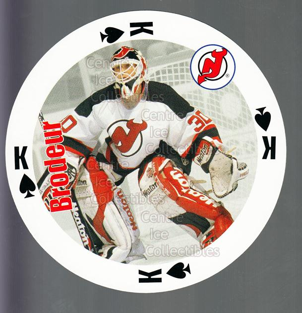 1998-99 NHL Aces Playing Card #52 Martin Brodeur<br/>1 In Stock - $3.00 each - <a href=https://centericecollectibles.foxycart.com/cart?name=1998-99%20NHL%20Aces%20Playing%20Card%20%2352%20Martin%20Brodeur...&price=$3.00&code=240187 class=foxycart> Buy it now! </a>