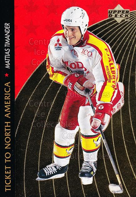 1995-96 Swedish Upper Deck Ticket to North America #19 Mattias Timander<br/>5 In Stock - $2.00 each - <a href=https://centericecollectibles.foxycart.com/cart?name=1995-96%20Swedish%20Upper%20Deck%20Ticket%20to%20North%20America%20%2319%20Mattias%20Timande...&quantity_max=5&price=$2.00&code=240339 class=foxycart> Buy it now! </a>