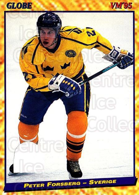 1995 Swedish Globe World Championships #21 Peter Forsberg<br/>1 In Stock - $5.00 each - <a href=https://centericecollectibles.foxycart.com/cart?name=1995%20Swedish%20Globe%20World%20Championships%20%2321%20Peter%20Forsberg...&quantity_max=1&price=$5.00&code=240343 class=foxycart> Buy it now! </a>