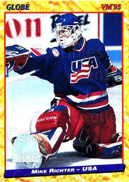 1995 Swedish Globe World Championships #100 Mike Richter<br/>2 In Stock - $3.00 each - <a href=https://centericecollectibles.foxycart.com/cart?name=1995%20Swedish%20Globe%20World%20Championships%20%23100%20Mike%20Richter...&quantity_max=2&price=$3.00&code=240365 class=foxycart> Buy it now! </a>