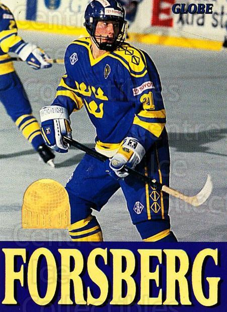 1995 Swedish Globe World Championships #255 Peter Forsberg<br/>6 In Stock - $2.00 each - <a href=https://centericecollectibles.foxycart.com/cart?name=1995%20Swedish%20Globe%20World%20Championships%20%23255%20Peter%20Forsberg...&quantity_max=6&price=$2.00&code=240388 class=foxycart> Buy it now! </a>