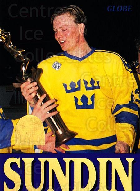 1995 Swedish Globe World Championships #256 Mats Sundin<br/>6 In Stock - $2.00 each - <a href=https://centericecollectibles.foxycart.com/cart?name=1995%20Swedish%20Globe%20World%20Championships%20%23256%20Mats%20Sundin...&price=$2.00&code=240389 class=foxycart> Buy it now! </a>