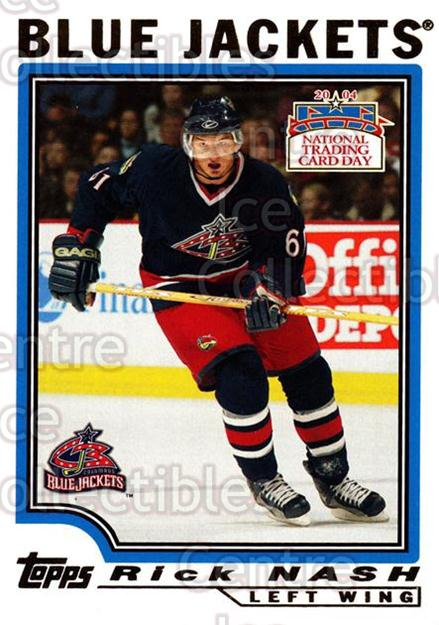 2004 National Trading Card Day #7 Rick Nash<br/>6 In Stock - $2.00 each - <a href=https://centericecollectibles.foxycart.com/cart?name=2004%20National%20Trading%20Card%20Day%20%237%20Rick%20Nash...&quantity_max=6&price=$2.00&code=241018 class=foxycart> Buy it now! </a>