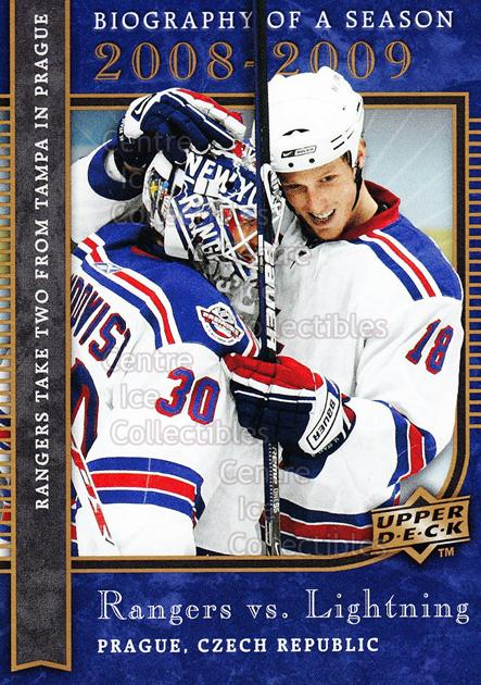 2008-09 Upper Deck Biography of a Season #6 Henrik Lundqvist, Marc Staal<br/>22 In Stock - $2.00 each - <a href=https://centericecollectibles.foxycart.com/cart?name=2008-09%20Upper%20Deck%20Biography%20of%20a%20Season%20%236%20Henrik%20Lundqvis...&quantity_max=22&price=$2.00&code=241043 class=foxycart> Buy it now! </a>