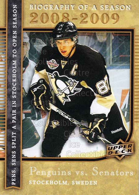 2008-09 Upper Deck Biography of a Season #7 Sidney Crosby<br/>3 In Stock - $3.00 each - <a href=https://centericecollectibles.foxycart.com/cart?name=2008-09%20Upper%20Deck%20Biography%20of%20a%20Season%20%237%20Sidney%20Crosby...&price=$3.00&code=241044 class=foxycart> Buy it now! </a>