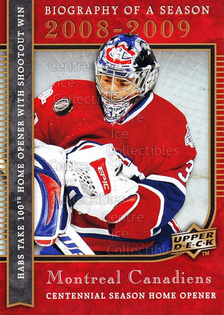 2008-09 Upper Deck Biography of a Season #8 Carey Price<br/>24 In Stock - $2.00 each - <a href=https://centericecollectibles.foxycart.com/cart?name=2008-09%20Upper%20Deck%20Biography%20of%20a%20Season%20%238%20Carey%20Price...&price=$2.00&code=241045 class=foxycart> Buy it now! </a>
